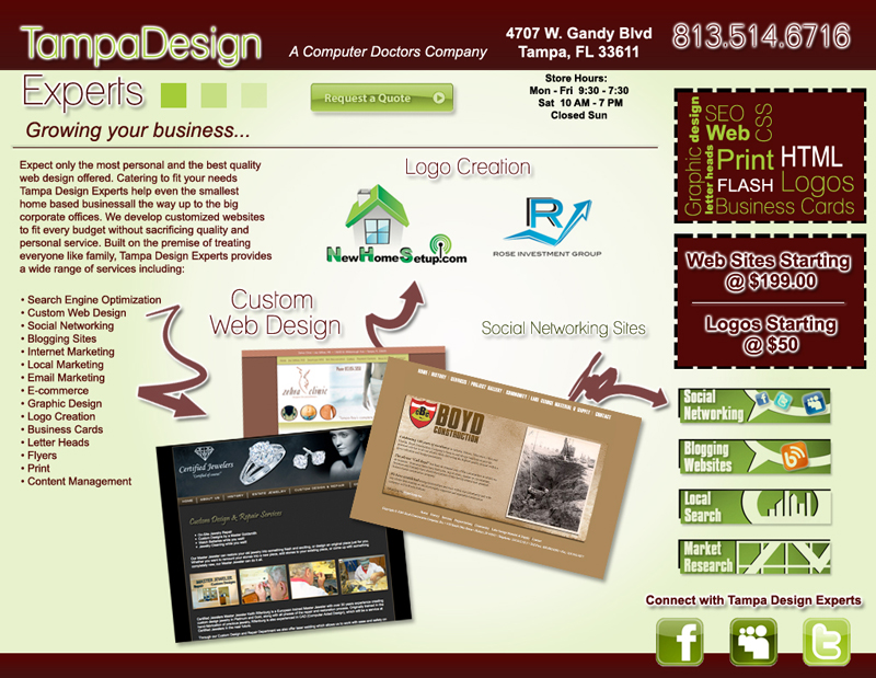 websites starting @ $199