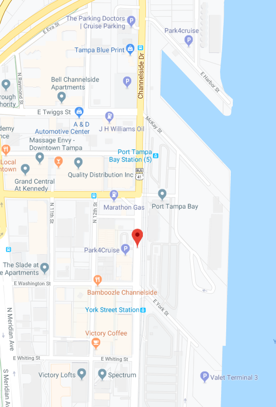 Channelside Computer Repair near me tampa map