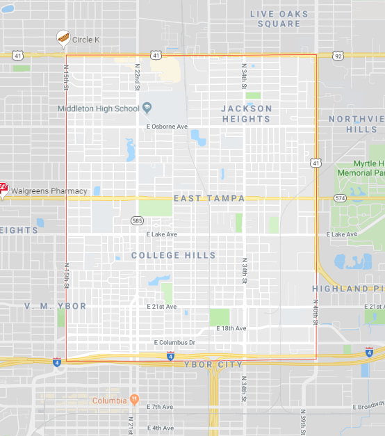 East Tampa Computer Repair near me tampa map