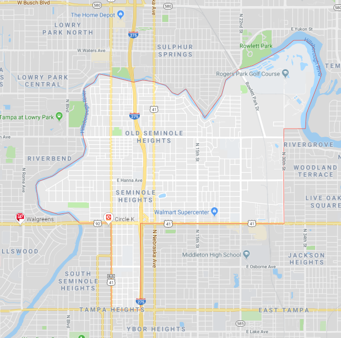 Seminole Heights Computer Repair near me tampa map