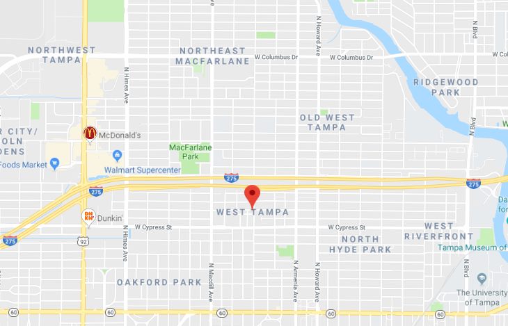West Tampa Computer Repair near me tampa map